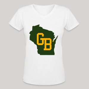 GB - Wisconsin - Women's V-Neck T-Shirt