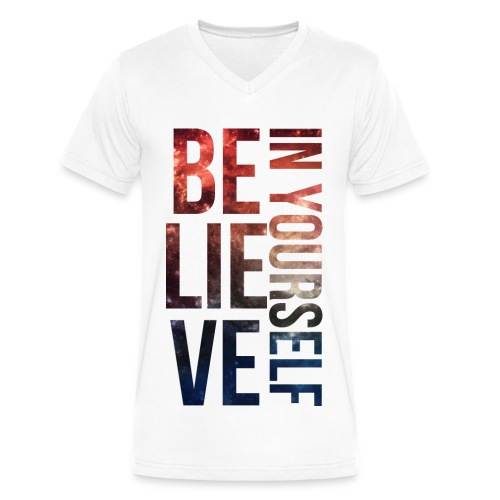 Believe in Yourself - Men's V-Neck T-Shirt by Canvas