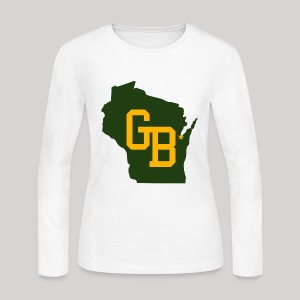 GB - Wisconsin - Women's Long Sleeve Jersey T-Shirt