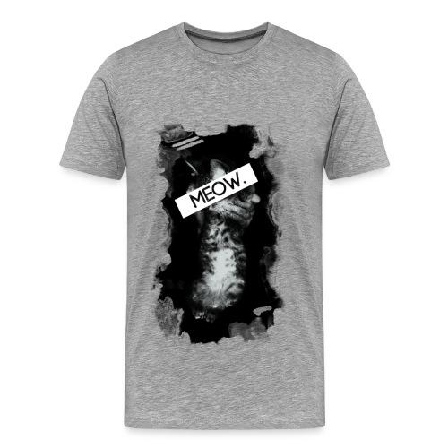 Meow Cat - Gray/Mens - Men's Premium T-Shirt