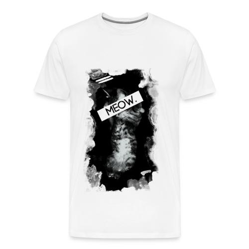 Meow Cat - White/Men's - Men's Premium T-Shirt