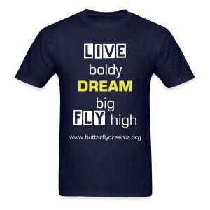 Live, Dream, Fly T-Shirt - Men's T-Shirt