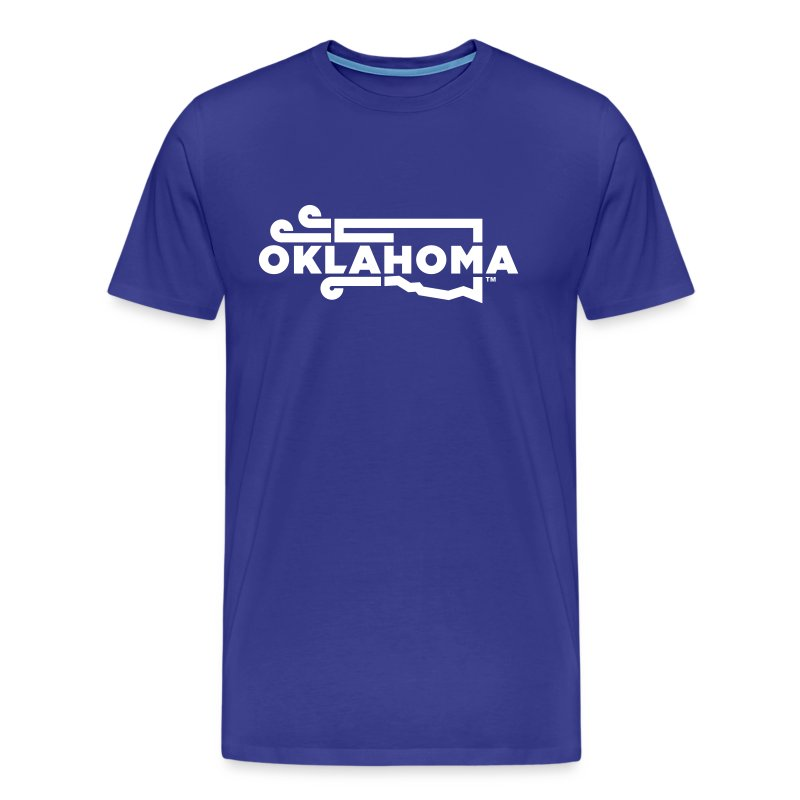 Okie Wind - Men - Blue - Men's Premium T-Shirt