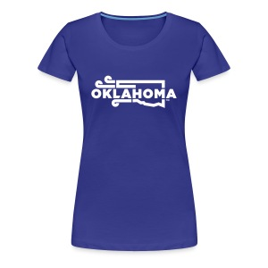 Okie Wind - Women - Blue - Women's Premium T-Shirt