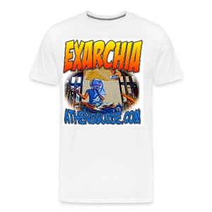 EXARCHIA WHITE (men) - Men's Premium T-Shirt