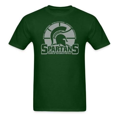 Spartan Girls Basketball Tshirt - Men's T-Shirt