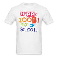 T-Shirts ~ Men's T-Shirt ~ Happy 100th Day of School | Men's Classic