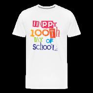 T-Shirts ~ Men's Premium T-Shirt ~ Happy 100th Day of School | Men's