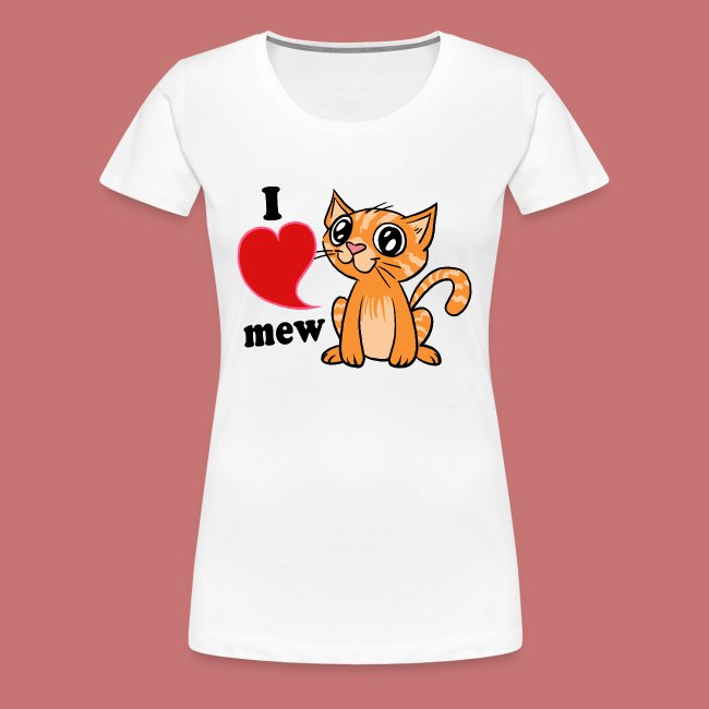 Orange tabby cat mew ladies graphic t-shirt
