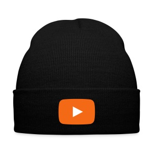 PlayButton hat - Knit Cap with Cuff Print