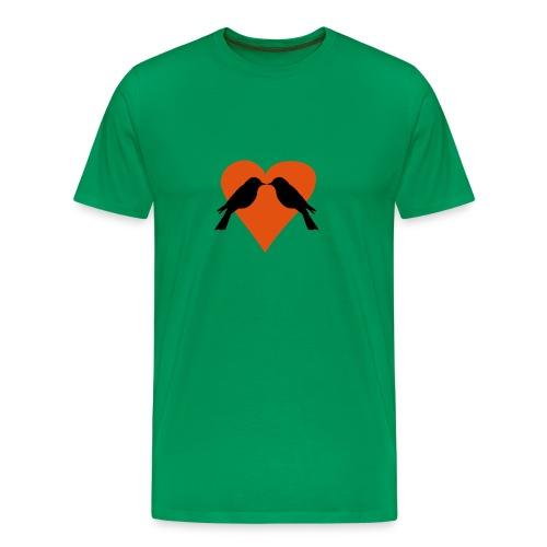 Valentine Lovebirds - Men's Premium T-Shirt