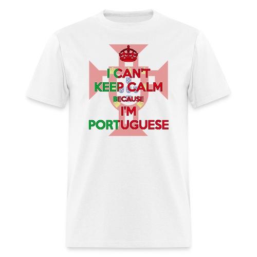 I Can't Keep Calm ~ Portuguese Men [Emblem] - Men's T-Shirt