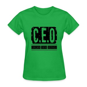 Womens CEO Shirt Black Letters - Women's T-Shirt