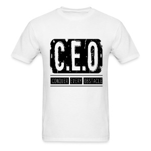 Mens CEO T-Shirt Black Letters - Men's T-Shirt