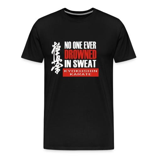 Black T-Shirt with No One Ever Slogan - Men's Premium T-Shirt