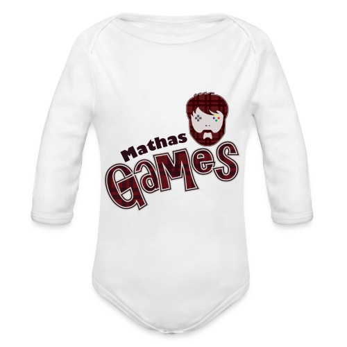 MathasGames for Baby's Logo - Organic Long Sleeve Baby Bodysuit