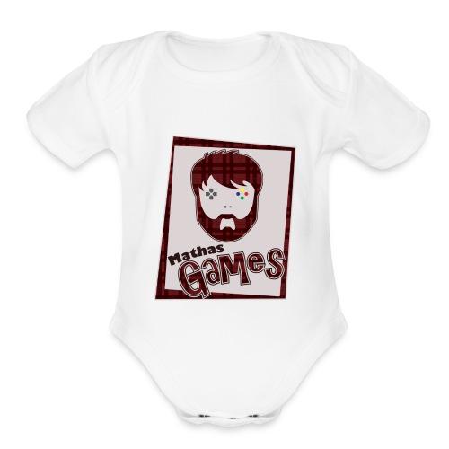 MathasGames for Baby's Short Sleeved Logo 2 - Organic Short Sleeve Baby Bodysuit