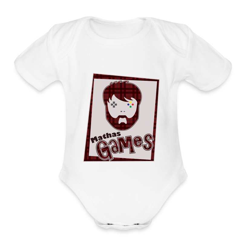 MathasGames for Baby's Short Sleeved Logo 2 - Short Sleeve Baby Bodysuit