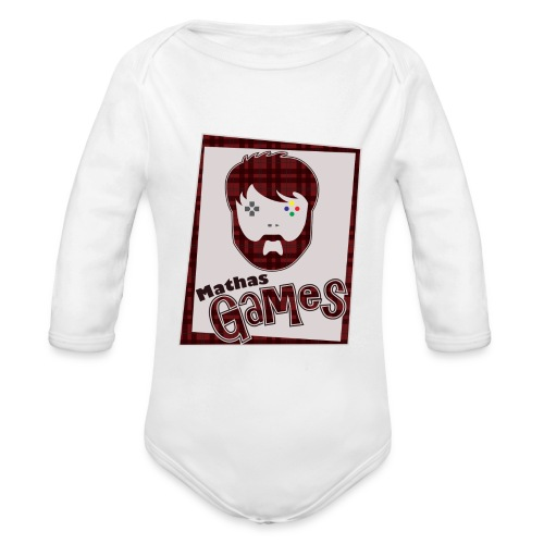 MathasGames for Baby's Logo 2 - Organic Long Sleeve Baby Bodysuit
