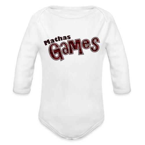 MathasGames for Baby's Logo 3 - Long Sleeve Baby Bodysuit