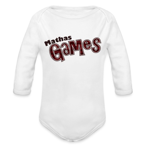 MathasGames for Baby's Logo 3 - Organic Long Sleeve Baby Bodysuit