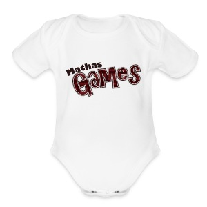 MathasGames for Baby's Short Sleeved Logo 3 - Short Sleeve Baby Bodysuit