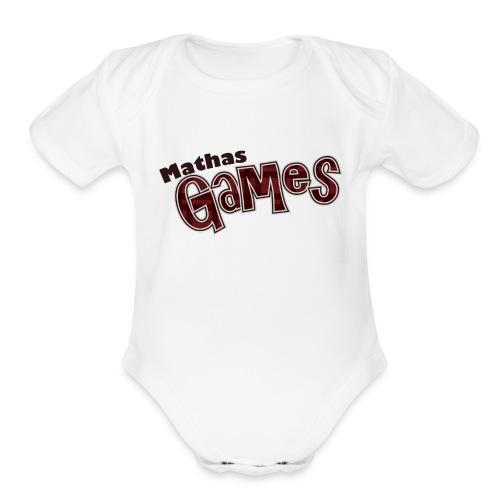 MathasGames for Baby's Short Sleeved Logo 3 - Organic Short Sleeve Baby Bodysuit