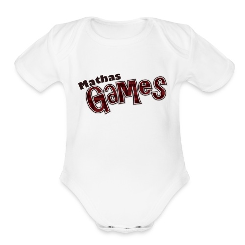 MathasGames for Baby's Short Sleeved Logo 3 - Organic Short Sleeve Baby Bodysuit