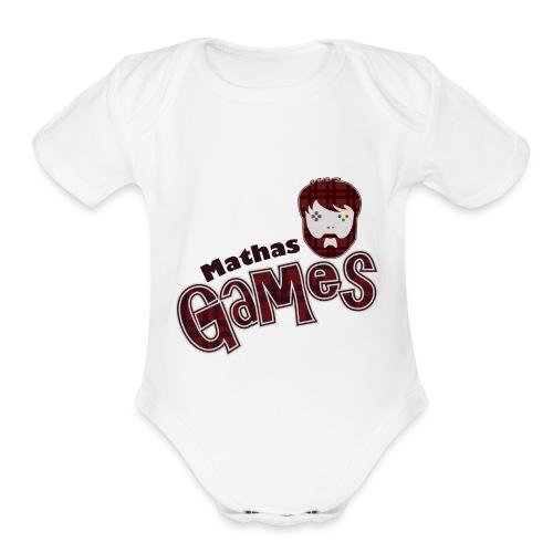 MathasGames for Baby's Short Sleeved Logo - Organic Short Sleeve Baby Bodysuit