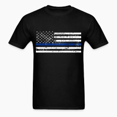 tattered distressed thin blue line flag vintage