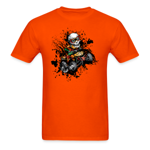 ATV Skully Splatter Sml - Men's T-Shirt