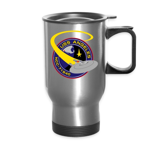 Thermal Travel Mug with both old and new USS Angeles logos - Travel Mug