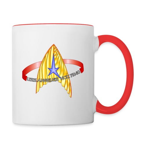 Two-tone mug (original USS Angeles chapter emblem and starship) - Contrast Coffee Mug