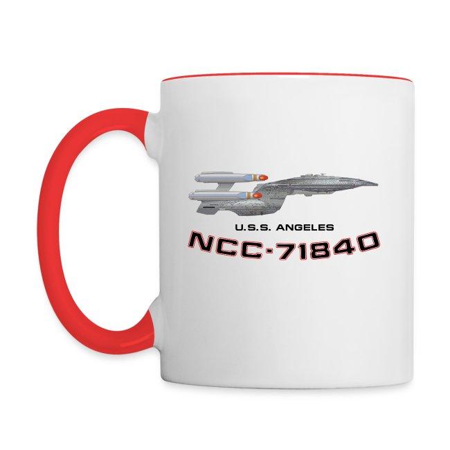 Two-tone mug (original USS Angeles chapter emblem and starship)