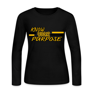 Know Your Purpose - Women's Long Sleeve Jersey T-Shirt