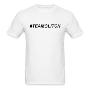 TEAMGLITCH Black Letters - Men's T-Shirt