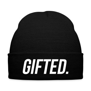 GIFTED Beanie By YRL Clothing Co - Knit Cap with Cuff Print