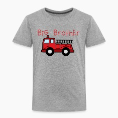Big Brother Fire Truk Shirt