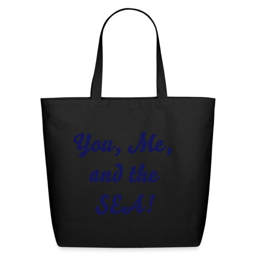 You, me, and the sea - navy - Eco-Friendly Cotton Tote