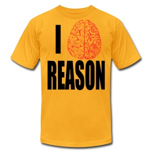I Heart REASON - Men's T-Shirt by American Apparel