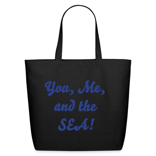 You, me, and the sea - light blue - Eco-Friendly Cotton Tote