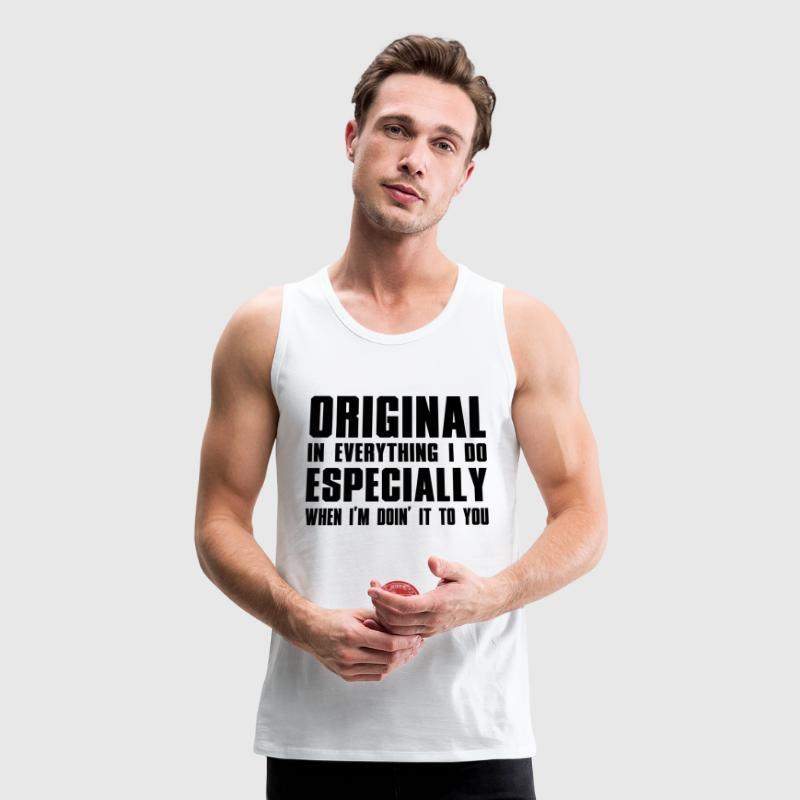 ORIGINAL BLACK HIP HOP LYRICS Tank Tops - Men's Premium Tank