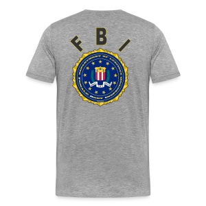 Men's Premium T Back- FBI - Men's Premium T-Shirt