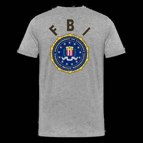 Men's Premium T Back- FBI - Men's Premium T-Shirt