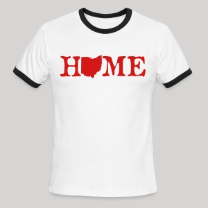 HOME - Ohio - Men's Ringer T-Shirt