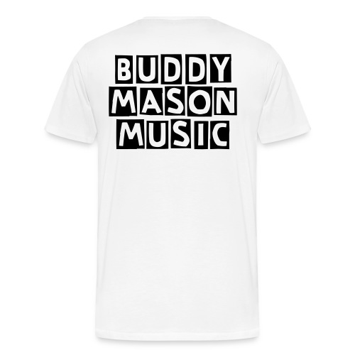 WTF (Where's The Fireball) Buddy Mason Music White Mens Tee - Men's Premium T-Shirt