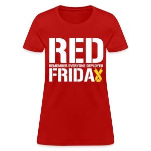 RED Friday: Upside Down Ribbon - Women's T-Shirt