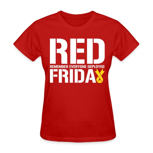 RED Friday: Upside Down Ribbon - Women's T-Shirt
