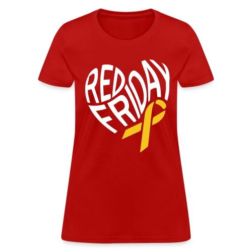 RED Friday Heart - Women's T-Shirt