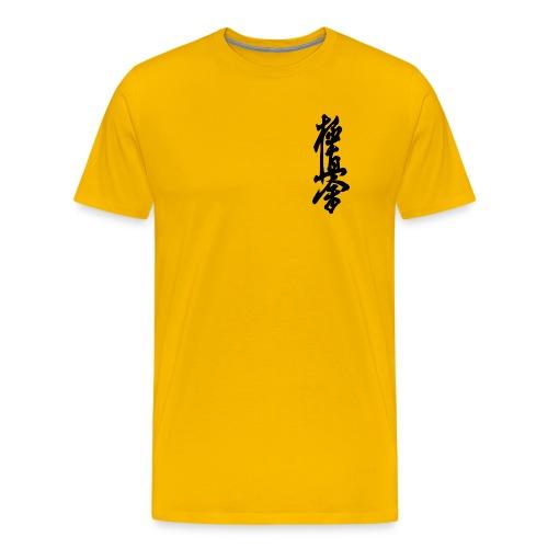 Yellow Tshirt with Kyokushin Kanji - Men's Premium T-Shirt